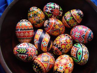 Easter Eggs painted by my dear friend Evan Lewis